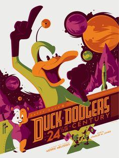 Modernized retro cartoon posters by Tom Whalen.