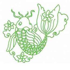 Free Embroidery Design: Fish