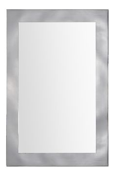 The Calandra features a polished mirror set on a stainless steel backing with a brushed nickel finish. Dimensions: 24 x 36 x 2""