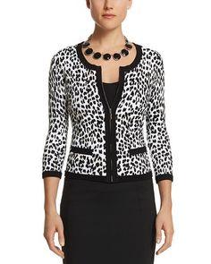 White House   Black Market Cheetah Cardi Jacket #whbm