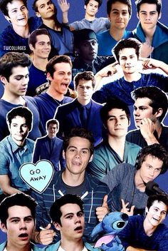(blue themed) dylan o'brien collage