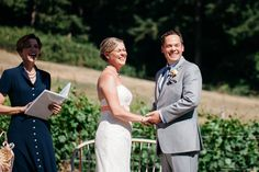 Kevin and Erika, married at Dancing Fish Farm on Whidbey Island, July 2015.  Officiant:  Annemarie Juhlian
