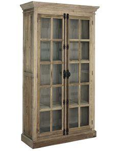 Elmwood cabinet vitrinskåp - Brun från Artwood hos ConfidentLiving.se