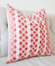 Pattern - Texture - Color Pallet & Design all meet in this stunning pillow cover featuring well known Interior Designer Tilton Fenwicks new Coral