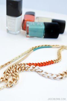 Color Blocked Gold Bracelets