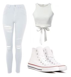 """Untitled #46"" by admira903 ❤ liked on Polyvore featuring Topshop and Converse"