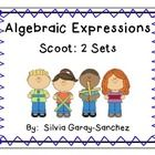 These are 2 sets of Algebraic Expressions task cards.  One is for verbal expressions and the other is for evaluating expressions.  Scoot/task cards...
