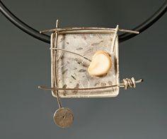 Neckpiece No. 4 in Noguchi series: Caroline Viene: Silver & Stone Necklace | Artful Home