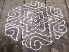 Rangoli designs/Kolam: S. Rangoli Designs Simple Diwali, Rangoli Simple, Indian Rangoli Designs, Rangoli Designs Latest, Rangoli Designs Flower, Free Hand Rangoli Design, Rangoli Border Designs, Small Rangoli Design, Rangoli Patterns