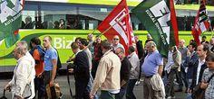 Bizkaibus siguen en pie de huelga