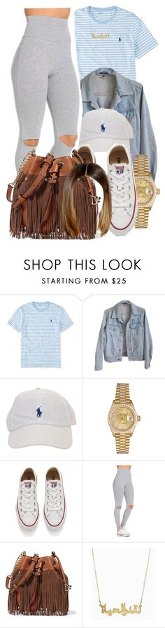 """4/24/16"" by lookatimani ❤ liked on Polyvore featuring Ralph Lauren, American Apparel, Rolex, Converse and Diane Von Furstenberg"