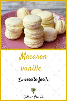 Croque-monsieur of eggplants - Healthy Food Mom Nutella Macarons, Pistachio Macarons, Vanilla Macarons, Patisserie Fine, Cookie Recipes, Dessert Recipes, Macaroon Recipes, Perfect Cookie, Chocolate Desserts