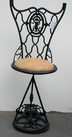 Details About Antique Singer Swivel Bar Stool W Footrest