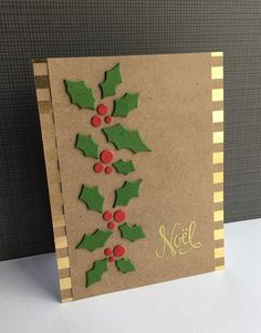 9 More Easy Homemade Christmas Cards with Step by Step Instructions – DIY Fan Simple Christmas Cards, Christmas Card Crafts, Homemade Christmas Cards, Christmas Greeting Cards, Christmas Greetings, Homemade Cards, Holiday Cards, Christmas Card Making, Christmas Card Designs