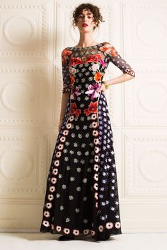 Temperley London F/W 2016 Sylvie Embroidered Gown Dress, $4,395 NWT, US 6, UK 10