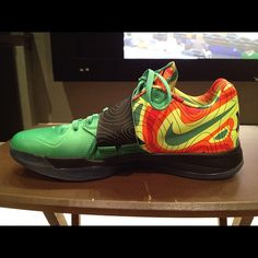 best website 9d6b4 c37c1 Weatherman   An iteration of Kevin Durant s fourth signature Nike sneaker.  This it the Weatherman colorway. it serves as a tribute to KD s youth when  he ...