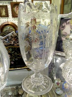 A Victorian celery glass offered by Hayman & Hayman at Alfies Antique Market.  www.alfiesantiques.com