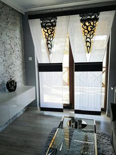 All Details You Need to Know About Home Decoration - Modern Balcony Curtains, Home Curtains, Valance Curtains, Curtain Designs, Home Accents, Bed Sheets, Window Treatments, Diy Furniture, Living Room