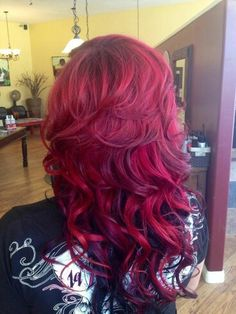 Pinkish red hair