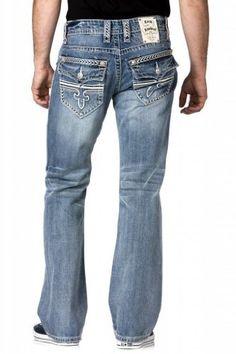 Rock Revival Men Jeans Sebastian B4 Bootcut Jeans Fleur Flap Pockets In Light Blue Wash Rock Revival,http://www.amazon.com/dp/B00C3NU8MC/ref=cm_sw_r_pi_dp_zWVLrb1BA9ACENNM