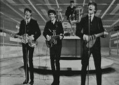 The Beatles (Ed Sullivan Show) 02-09-1964 ...  This entire Pinterest page (JC Argillet - Modernist) is amazing!