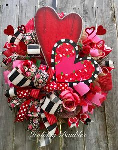 A personal favorite from my Etsy shop https://www.etsy.com/listing/570544842/valentines-day-wreath-heart-wreath