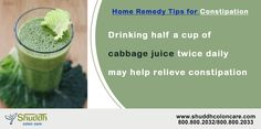 Home Remedy Tips for Constipation.Drinking half a cup of  cabbage juice twice daily may help relieve constipation contact us for more details -->http://www.shuddhcoloncare.com/care.html ‪  #homeremedy #constipation #dailyhelthtips