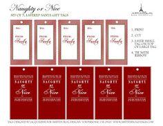 Printables: Free Naughty or Nice Santa Gift Tags