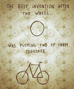 bike is the second best invention