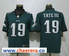 31bf6f652c8 Men's Philadelphia Eagles #19 Golden Tate III Midnight Green 2017 Vapor  Untouchable Stitched NFL Nike Limited Jersey