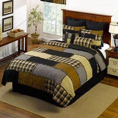Lodge Podge Bedding, Quilts and Bath, Lodge Bedding, Quilt Sets Donna Sharp Quilts, Geometric Quilt, Single Quilt, Quilt Sizes, Quilt Bedding, Rag Quilt, Patchwork Quilting, Queen Quilt, Cool Beds