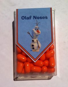 Tic Tac favors for a Frozen party - Olaf Noses