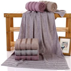 100% Bamboo Bath Towel Soft Solid Home Bath Face Towel Brand Towel Set For Adults 70*140cm