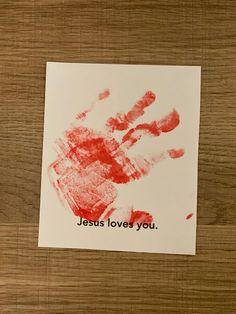 Sample for Toddlers week 2; Handprint Love