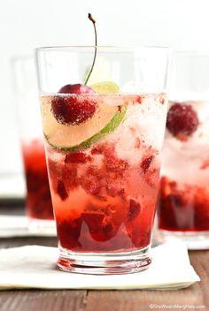 Cherry Gin Fizz Recipe FoodBlogs.com