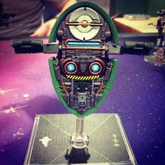 X-Wing Miniatures Game. Firespray repaint, back.