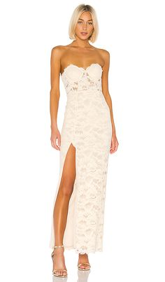 Lovers + Friends Ferraro Gown in Nude | REVOLVE