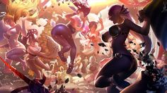 Download League of Legends Girls Pillow Fight Wallpaper by Feihong Chen 3840x2160