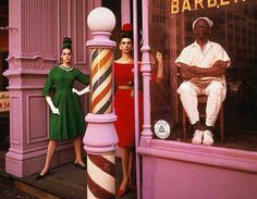 Antonia Simone Barbershop, New York City, 1961 - Photo by William Klein for Vogue Magazine