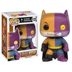 The heroes of Gotham are in disguise as their iconic villain counterparts! This Batman Imposter Two-Face Pop! Vinyl Figure features Batman in Two-Face's signature colors. The Batman Impopster… Funko Pop Figures, Vinyl Figures, Action Figures, Two Face Batman, Funko Pop Batman, Pop Toys, Pop Collection, Pop Heroes, Two Faces