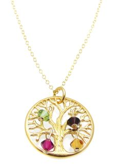 Gold Plated Tree of Life Charm Necklace by HeartProjects on Etsy