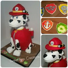 Marshall Dog Cake Paw patrol Sweet-Ness Creations