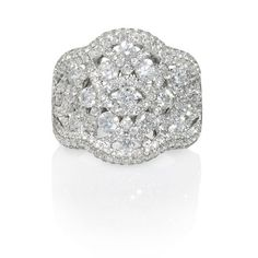 Diamond 18k White Gold Ring from  Firenze Jewels