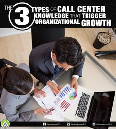 What are the main types of #CallCenter knowledge and how can they be used to fuel the company's growth?
