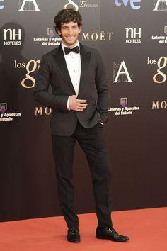 Todas las imágenes de alfombra roja y celebrities de los Premios Goya 2013: Quim Gutiérrez de Dolce