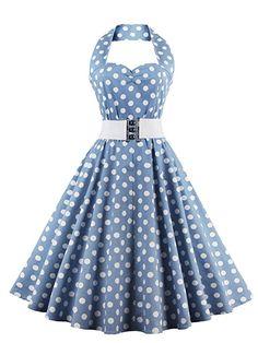8e2d0ee72 Vkstar® – Vestido vintage años 50 estilo Audrey Hepburn para mujer