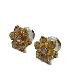 11mm 7/16 Rhinestone Plugs-Wedding Plugs-Pretty Gauges-Prom Plugs-Stretched Ears-Steel Plugs-Bridal-Flower Tunnels-Golden Plugs-Fashion These gorgeous plugs are made with rhinestone buttons. They would be great for your bridal party or even everyday. Each pair is securely attached to surgical Cartilage Earrings, Cartilage Piercings, Rook Piercing, Piercing Ideas, Wedding List, Dream Wedding, Wedding Plugs, Stretched Ears, Bridal Flowers
