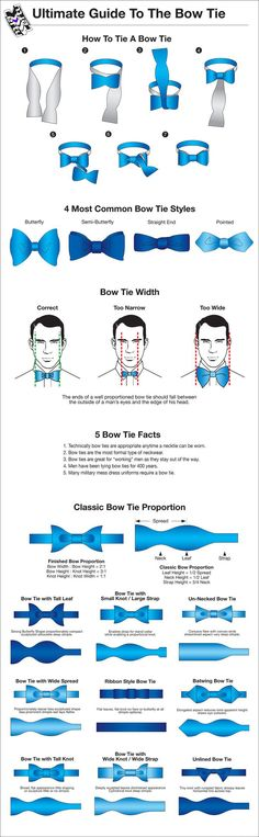 How to Rock That Bow Tie - How to Wear a Bow Tie Like a Real Gentleman. The Bow Tie is making a comeback, so here is a helpful guide on how wear one.