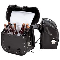 Motorcycle Saddlebags with Cooler and Bottle Opener