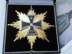 Rare WW1 Star Grand Knights Iron Cross German Medal.